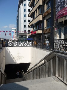 stairs to bus Taksim 3